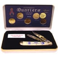 24k Gold Plated 2001 State Quarter Series& Knife S