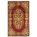 Safavieh Handmade Heritage Timeless Traditional Red Wool Rug - 3' x 5'
