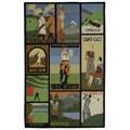 Safavieh Handmade Vintage Golf Poster Wool Rug - Green - 5'3 x 8'3