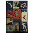 Safavieh Handmade Vintage Sports Poster Wool Rug - Assorted - 6' x 9'