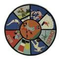 Safavieh Handmade Vintage Sports Poster Wool Rug (5'6 Round)