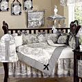 French Toile Black & Cream 10-piece Crib Set