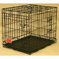 Double Door Medium 36-inch Electro Coat Finish Folding Dog Crate Cage