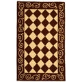Safavieh Hand-hooked Diamond Brown/ Ivory Wool Runner (2'6 x 4')
