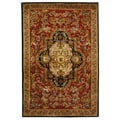 Safavieh Handmade Classic Royal Red/ Black Wool Rug (5' x 8')