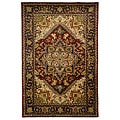 Safavieh Handmade Classic Heriz Red Wool Rug (5' x 8')