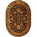 Safavieh Handmade Classic Regal Burgundy/ Gold Wool Rug (7'6 x 9'6 Oval) - 7'6' x 9'6' oval
