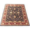 Indian Mahal Hand-knotted Black/ Red Rug (8' x 10')