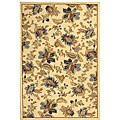 "Safavieh Hand-hooked Garden Ivory Wool Rug (7'9 x 9'9) - 7'-9"" x 9'-9"""