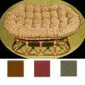 Stained Double-frame Micro Suede Papasan Chair
