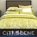 City Scene Bamboo Celadon 7-piece Bed in a Bag with Sheet Set