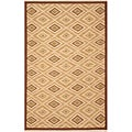 Hand-woven Sand Wool Rug (8' x 10')