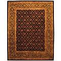 """Safavieh Handmade Classic Tress Chocolate Wool Rug - 7'6"""" x 9'6"""""""