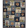 Safavieh Hand-hooked Nautical Blue Wool Rug - 8'9 x 11'