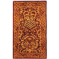 "Safavieh Handmade Majestic Rust New Zealand Wool Runner - 2'3"" x 4'"