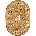 "Safavieh Handmade Classic Empire Wool Panel Rug - 7'6"" x 9'6"" Oval"