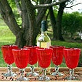 Set of 6 'Scarlet Temptation' Wine Glasses (Mexico)