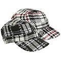 Adi Designs Fleece Lined Plaid Cap
