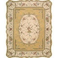 Nourison Hand-tufted Scalloped Gold Rug (7'3 x 9'3)