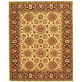 Safavieh Handmade Legacy Beige/ Burgundy Wool and Silk Rug - 6' x 9'