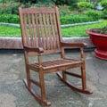 International Caravan Highland Porch Solid Acacia Wood Rocking Chair