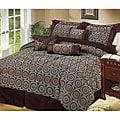 Arcadia 7-piece Chocolate Brown Comforter Set