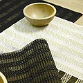 Chicology Saxon Table Runner and Four Placemats