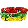 Trio of Red, Yellow and Green Bracelets (Kenya)