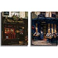 George Botich 'Paris Storefronts' Canvas Art Print 2-piece Set