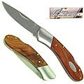 Natural Wood 6.7-inch Single Bolster Pocket Knife