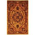 Safavieh Handmade Classic Heriz Gold/ Red Wool Rug - 3' x 5'