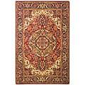 Safavieh Handmade Classic Heriz Red/ Navy Wool Rug - 9'6 x 13'6
