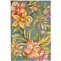 Safavieh Hand-hooked Paradise Blue Wool Rug (3'9 x 5'9)