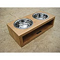 Eco Friendly Bamboo Diner Pet Feeder