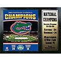 Florida Gators '08-09 Champions 12x15 Stats Plaque