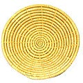 Natural-colored Spokes-design Coil Basket (Uganda)