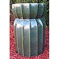 Lotus Lan Green Ceramic Garden Stool