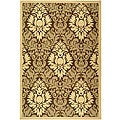 Safavieh St. Barts Damask Brown/ Natural Indoor/ Outdoor Rug - 7'10' x 11'