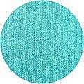Bright Blue Fleece Shag Rug (5' Round)