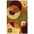 Safavieh Handmade Rodeo Drive Modern Abstract Sage/ Ivory Wool Rug (3'6 x 5'6)