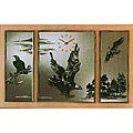 Mirrored Triptych Clock