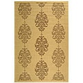 Safavieh St. Martin Damask Natural/ Brown Indoor/ Outdoor Rug - 7'10 x 11'
