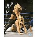 Michelle McCool Autographed WWE Action 8x10 Photograph