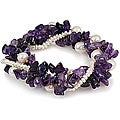 Maddy Emerson Couture Pearl and Amethyst Bracelet (7-7.5 mm)