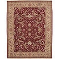 Nourison Hand-knotted Ancestry Red Wool Rug (7' x 9')