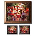 Michael O'Toole 'Rooftops II' Framed Canvas Art