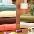 Sateen Solid Combed Cotton 600 Thread Count Queen Size Sheet Set
