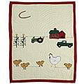Chicken Story Baby Crib Quilt