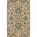 Hand-tufted Coliseum Wool Area Rug (6' Square)