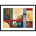 Judeen 'Color Matrix I' Wood Framed Art Print
